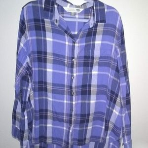 Blue Old Navy Flannel